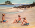 Family on the Beach by Louise Duffy