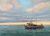Trawler and Golden Sky by Dorothy Pentheny