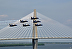 RAVENEL BRIDGE WITH BLUE ANGELS by BOB HIDER
