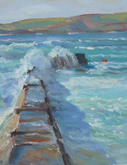 Harbour Wall, Sennen - Oil