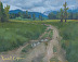 Dirt Road, Cloudy Day by Russell Cooper