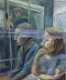 The Passing Train- Martha W Howard- oil-24 by 20 by Martha Howard