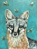 Grey Fox with Bees by Martha Worthy