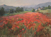 Red, Red Poppies 12x16 oil by Louise DeMore