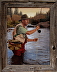 DJ flyfishing on Deschutes by Gary Schubert