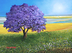 Jacaranda Near The Beach by Alicia Maury