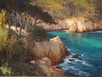 Brian blood portfolio of works paintings for Blue fish cove