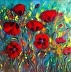 A Symphony of Poppies by Rosanne Haddad