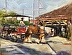 """Market Carriage Tour""original oil painting Charleston market carriage ride painting,Brenda Peake artist,Charleston art by Brenda Peake"