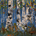 Birch Trees by Pamela Yates