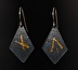 Keum-Boo Elongated Diamond-Shape Earring with Patina by Susan Frost