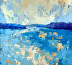 View Through Outer Islands Late Summer by Diana Rogers