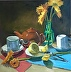 Still life with tea by Nithya Swaminathan