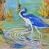 Blue Heron by Kathy Ferrell