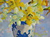 Jonquils in a Chinese Vase by Jodie Rippy