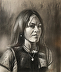 image Felicity. Charcoal and white pastel. by Knud Byrjalsen