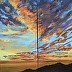 Sunset Diptych 30 X 30 ZAPP by Michael Armstrong