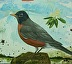 Robin with Blossom   by  Trade Winds Gallery