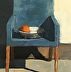 Blue Chair and Fruit by Judy Vilmain