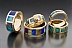 14 Kt Gold Inlaid Bands by Don McCoy