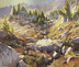 Valley Of Stone - Wallowa Mountains -- Eagle Cap Wilderness - Oregon Landscape - Original Oil Painting by Steve Henderson
