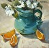 Turquoise Pitcher by Karen Werner