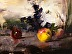 Still Life with Fruit and Violets by Bill Fletcher