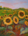 Summer Sunflowers in West Texas-oil by Carole Harston