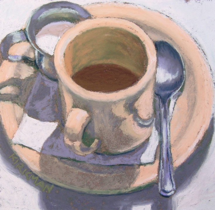 Coffee n' Cream by Rita Kirkman Pastel ~ 5 x 5 inches