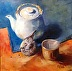 Sparrow and Green Tea by Rhonda Ford