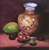 Vase with Mango and Pomegranate by Sarah Lucy Lee