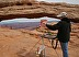 Marie Painting at Mesa Arch by Marie Jenkins
