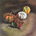 Pumpkins and Bittersweet Berries by Cathy Zimmermann