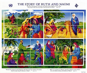 the story of ruth and naomi Then elimelech, naomi's husband, died and she was left, and her two sons now they took wives of the women of moab the name of the one was orpah, and the name of the other ruth and they dwelt there about ten years.