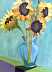 Sunflower Study by Nancy Carty