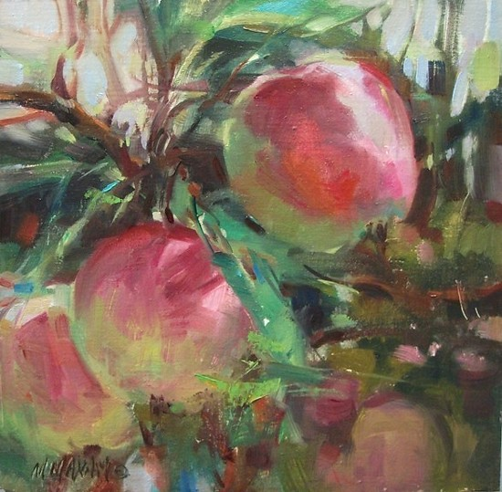 """First Crop by Mary Maxam Oil ~ 8"""" x 8"""""""