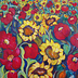poppies and sunflowers by Fiona Collins