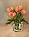 Peach Tulips by Triff Cook