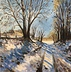 Last snow of winter - after K Buckland by Lynne Campen