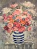 Flowers in Blue and White Vase by Celia Serani