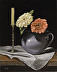 Blue Pitcher and Candlestick by Jeffrey Boring