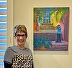 The artist with a Commissioned Painting by Joanne Schoener Scott